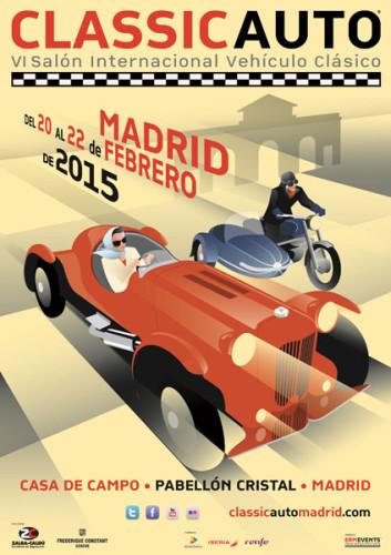 Cartel ClassicAuto Madrid 2015 (actualizado)