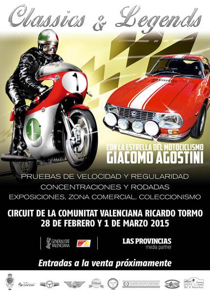 Classics Legends. Giacomo Agostini rodará con su mítica MV Augusta en Cheste