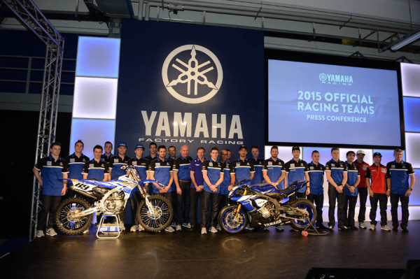 Presentación de los equipos de carreras de Yamaha Europa. Yamaha busca la gloria con su gama oficial Racing 2015