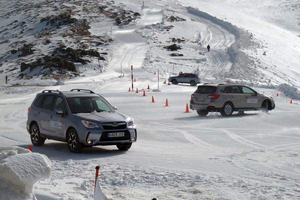 Primer circuito de conducción en nieve de Madrid