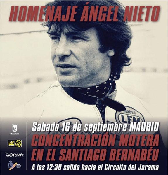 El sábado 16 de septiembre, homenaje a Ángel Nieto